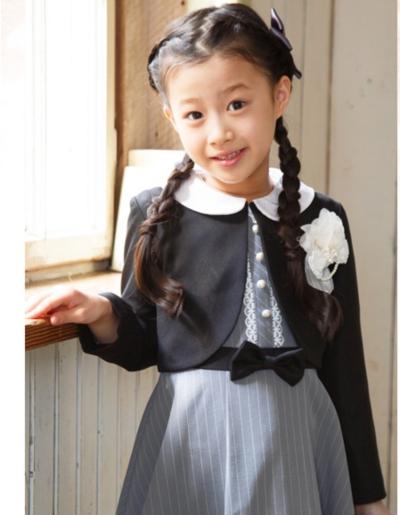 入学式 服装 ワンピース グレー